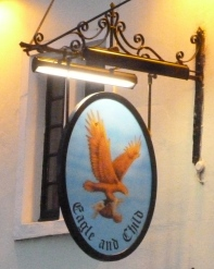 The Eagle and Child pub sign